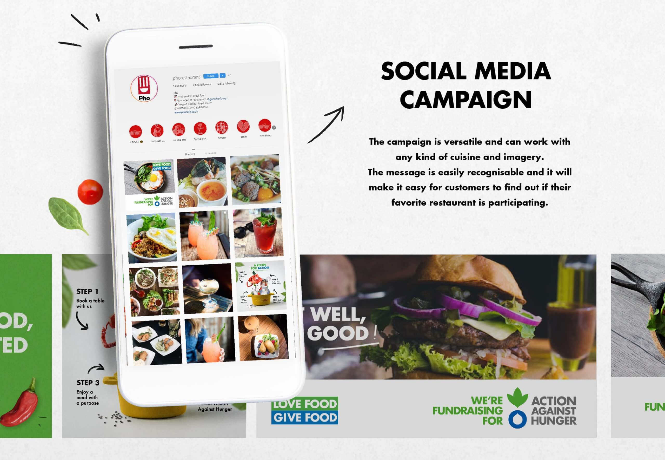 action against hunger brand refresh social media campaign