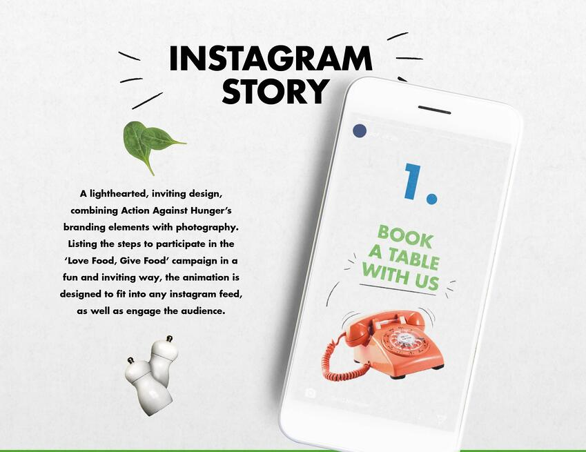action against hunger brand refresh instagram story
