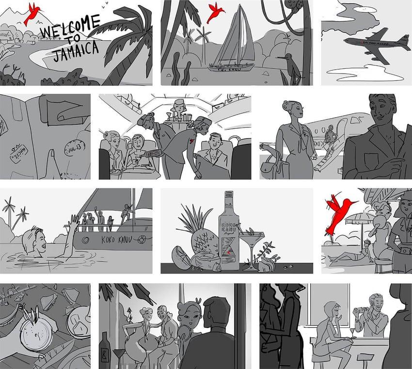 koko kanu brand storytelling image storyboard