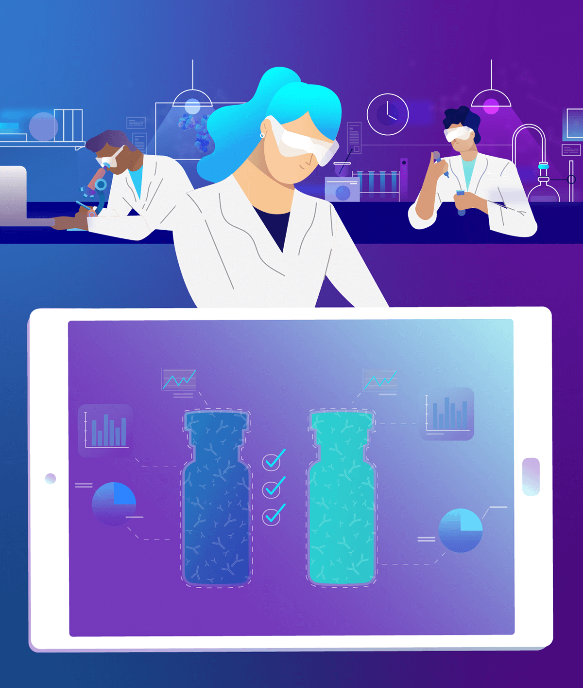 merck animated campaign images