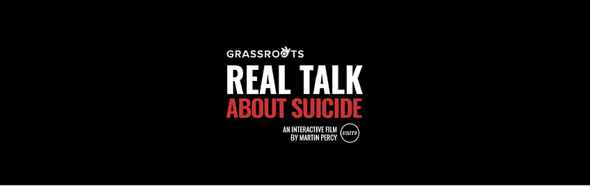 real talk about suicide interactive film logo